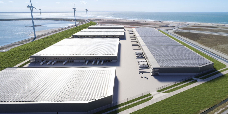 3.000 m2 aluminium gevelelementen in 210.000 m2 groot DC